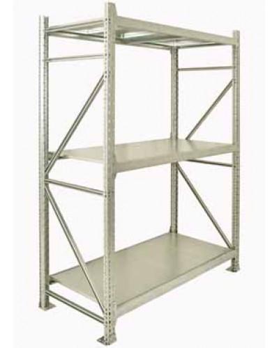 Грузовой полочный стеллаж (готовый комплект) 2000*1000*400/3 уровня , металлические полки