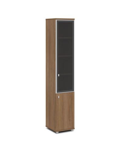 Шкаф со стеклом в алюминиевом профиле узкий V-505 л/п