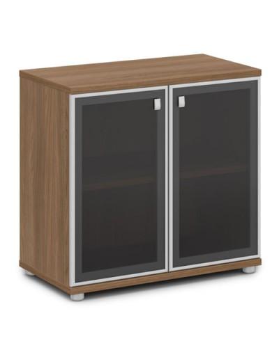 Шкаф со стеклом в алюминиевом профиле низкий V-652