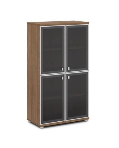 Шкаф со стеклом в алюминиевом профиле средний V-669