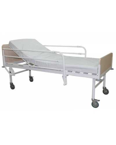 Кровать палатная с подъёмом подголовника на колёсах Э - 302 - КП