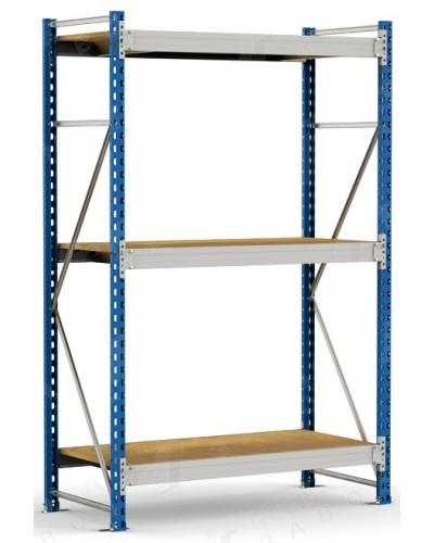 Грузовой полочный стеллаж (готовый комплект) 2000*1200*600/3 яруса, полка ДСП