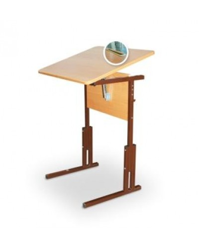 Стол ученический с подъёмной крышкой на регулируемом каркасе СУР-АР 01